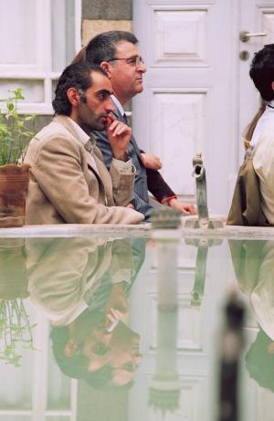 الكاتب مسعود عكو بجانب الراحل الشهيد مشعل تمو