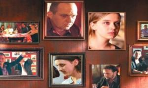 A poster of different scenes from Yusef's most recent film Trattoria.