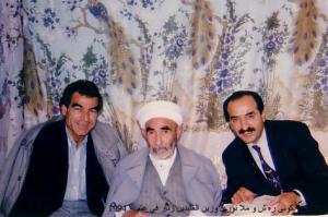 Wêne: Nivîskar Zeynelabdin Zinar, Mele Nûrî û ez, li mala mala wî, li Qamişlo.