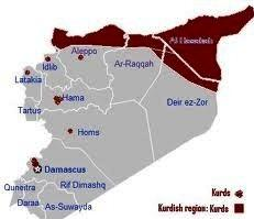 خريطة غرب كردستان